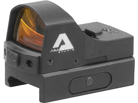 AIM Sports 1x24 Sub-Compact Pistol Red Dot Sight w/ Push Button Activation