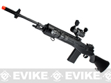 AGM M14 Full Size Airsoft Sniper Rifle + Red Dot and Flashlight