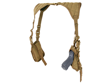 Condor Vertical Shoulder Holster (Color: Coyote Brown)
