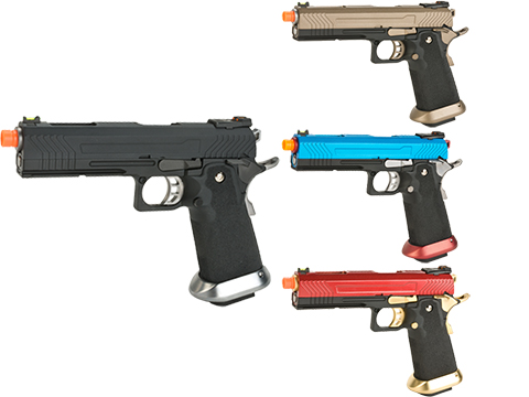 AW Custom Hi-Capa Competition Grade Gas Blowback Airsoft Pistol (Color: Black)