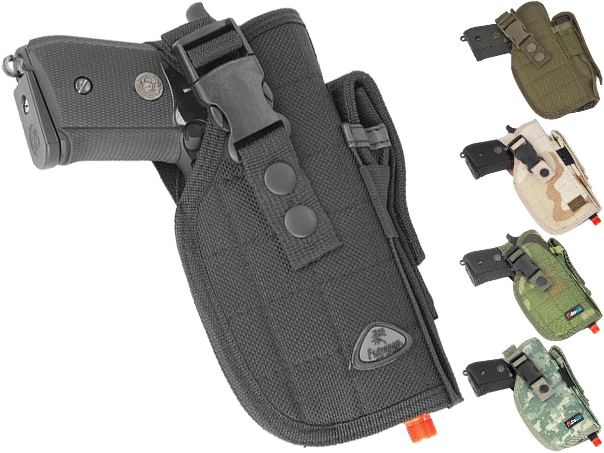 Shooter's Universal Quick Draw Tactical Belt / MOLLE holster w/ Mag pouch - Right Hand