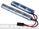 Intellect NiMH Battery for Airsoft AEGs with Small Tamiya Connector (Size: 8.4V 1600mAh)