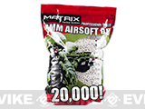 0.20g Match Grade 6mm Airsoft BB Bulk Buy Bag by Matrix - 20,000/ White