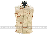 60/40 Cotton Poly Twill BDU Jacket  (Size: XXL) - 3 Color Desert