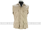 55/45 Cotton Poly Twill BDU Jacket  (Size: S) - Khaki
