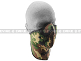Bobster / Zan Tactical Neo-X 1/2 Face Mask with Neck Shield and Removable Filter - Woodland Camo