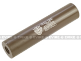 Matrix Airsoft Mock Silencer / Barrel Extension - 30 X 150mm (Style: Special Forces / Tan)