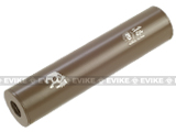 Matrix Airsoft Mock Silencer / Barrel Extension - 30 X 150mm (Style: Zombie Killer / Tan)