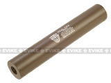 Matrix Op. High Speed Light Weight Airsoft Mock Silencer / Barrel Extension - 30 X 190mm (Special Force) - Tan