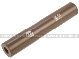 Matrix Op. High Speed 14mm Light Weight Airsoft Mock Silencer / Barrel Extension - 30 X 190mm (Zombie Killer) - Tan