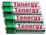 Tenergy High Quality Alkaline Batteries (Type: AA / 4 Pack)