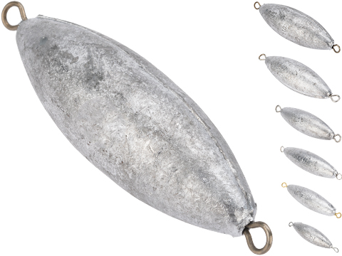 Battle Angler Double Ring Torpedo Lead Weight Sinker (Size: 6oz / Pack of 10)