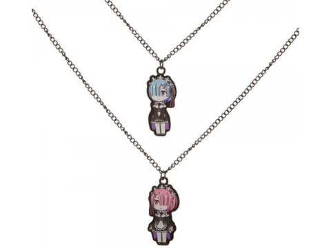 Bioworld Crunchyroll Re:Zero Ram Bestie Necklaces