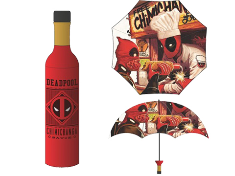 Bioworld Marvel Deadpool Chimichanga Bottle Umbrella