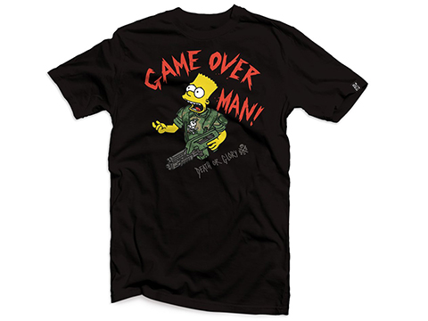 Black Rifle Division Bart Game Over T-shirt