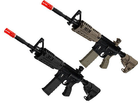 King Arms CAA Licensed M4-S1 Airsoft AEG Rifle (Color: Black / CQB)