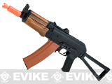 Full Metal AKS-74U / AK-74 Airsoft AEG Rifle with Imitation Wood Furniture by CYMA