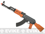 Full Metal Licensed Kalashnikov Electric Blowback AK-47 Airsoft AEG Rifle with Real Wood Stock by CYMA