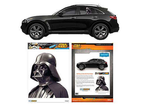 Star Wars Passenger Series Window Decal by Entertainment Earth (Model: Darth Vader)