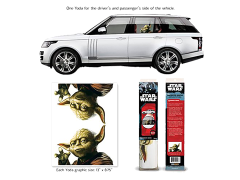 Star Wars Passenger Series Window Decal by Entertainment Earth (Model: Yoda)