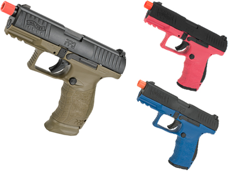 Walther PPQ GBB Tac SD Navy Airsoft GBB Pistol by Umarex Elite Force (Color: Desert Two Tone)