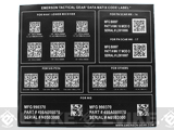 z Emerson / TMC Data Matrix Code Sticker Sheet