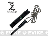 Elk Ridge 4 Fire Starter Kit with Built In Whistle and Compass with Necklace