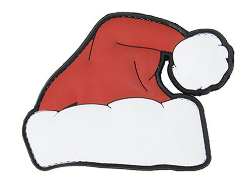 PVC Santa Hat Hook and Loop Morale Patch
