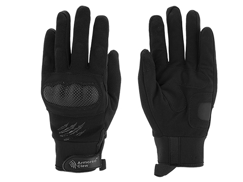 Armored Claw Shield Tactical Glove (Color: Black / Large)