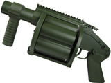 z Matrix Heavy Weight 6-Shell Airsoft Gas Revolver Grenade Launcher (OD Green)