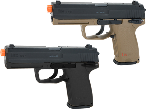 Umarex H&K Licensed USP Full Size CO2 Gas Non-Blowback Airsoft Pistol (Color: Dark Earth)