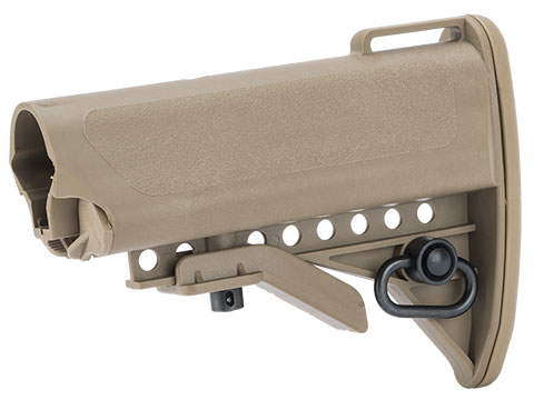 G&P Victor Compact Mini Crane Stock set for M4 M16 Series Airsoft AEGs (Color: Sand with Buffer Tube)
