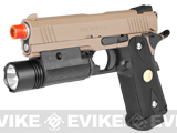 Pre-Order Estimated Arrival: 07/2013 --- CQB Master Limited Edition Full Metal 4.3 HICAPA Railed Frame Heavy Weight Airsoft Gas Blowback Pistol (Tan)