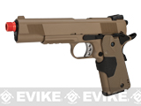 Evike Custom Full Metal 1911 Airsoft Gas Blowback Pistol with Laser Grip - Dark Earth
