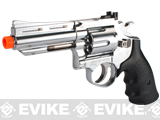 "HFC 4"" Bull Barrel Savage Bull Full Size Arisoft Gas Revolver - Chrome"