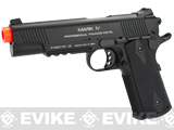 KWA Full Metal M1911 NS2 PTP w/ Railed Frame Airsoft Gas Blowback - MKIV / Black