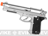 z KJW Full Size Taurus PT92 Licensed Airsoft Gas Blowback - Silver Chrome