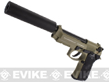 Socom Gear WE Full Metal M9A1 SOF Desert Combat w/ Gemtech Trinity Airsoft Mock Silencer