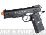 WG Xtreme 45 Full Metal US Combat 1911 Airsoft CO2 Gas Blowback - Black / Black Grip