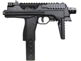 KWA KMP9 Gas Blowback Airsoft Submachine Gun (Color: Black w/ Rail)