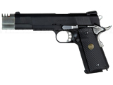 Socom Gear Special Edition Punisher 1911 Airsoft Gas Blowback Pistol w/ Compensator & Gun Case