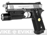 WE 4.3 Hi-CAPA OPS Special Edition Gas Blowback Pistol - (Black/Stainless)