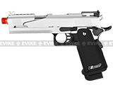 WE Full Metal Silver Dragon X-celerator Airsoft Gas Blowback Gun w/ Split Competition Slide