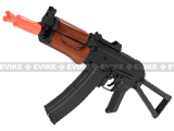 SRC Full Metal AK74U Airsoft Gas Blowback Rifle with Real Wood Furniture