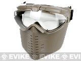 Pro-Goggle Airsoft Full-Face Mask w/ Integrated Fan (Desert Coyote)