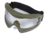 Hakkotsu High Peripheral X-Eye 260 Degree Wide Angle Goggle Set - (OD Green)