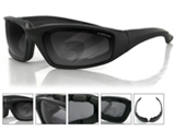 Bobster FOAMERZ II Shooting Sunglasses / BLK FRAME / ANTI-FOG SMOKED / ANSI Z87
