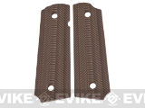 Matrix Spec. Op. Nylon Fiber Hand Grip For 1911 Airsoft Gas Blowback Pistols - Brown