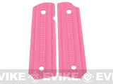Matrix Spec. Op. Nylon Fiber Hand Grip For 1911 Airsoft Gas Blowback Pistols - Pink