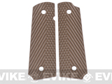 Matrix Operators Nylon Fiber Hand Grip For 1911 Airsoft Gas Blowback Pistols - Brown
